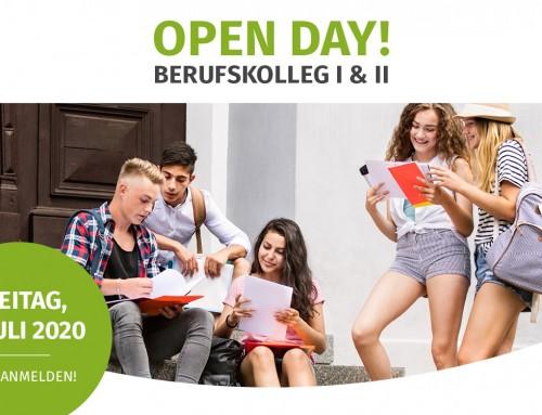 OPEN DAY! 17.07.2020 in Freiburg  Berufskolleg I & II
